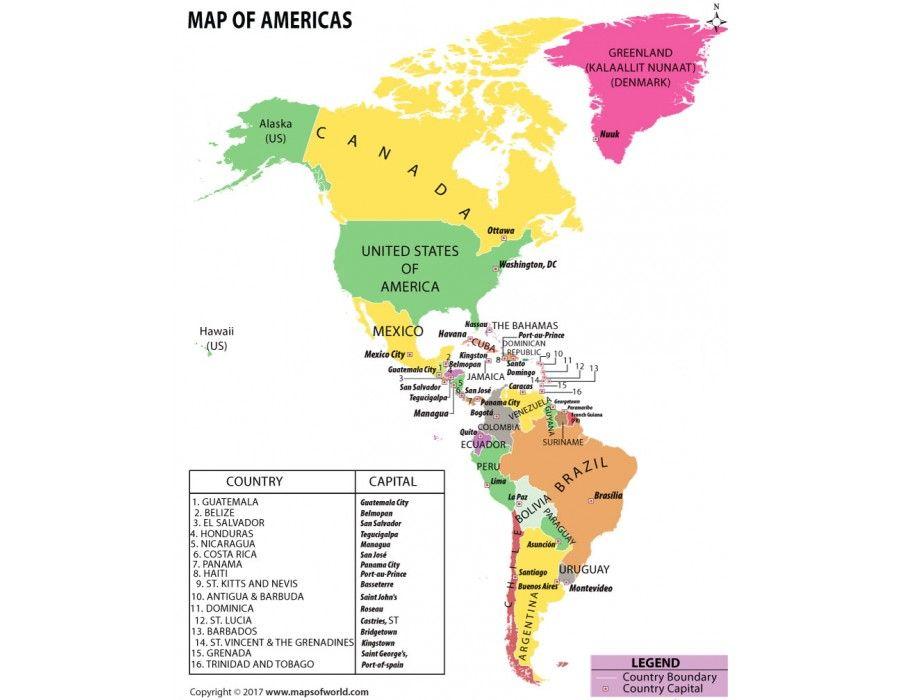 Map Of Americas South America Map North America Map America Map