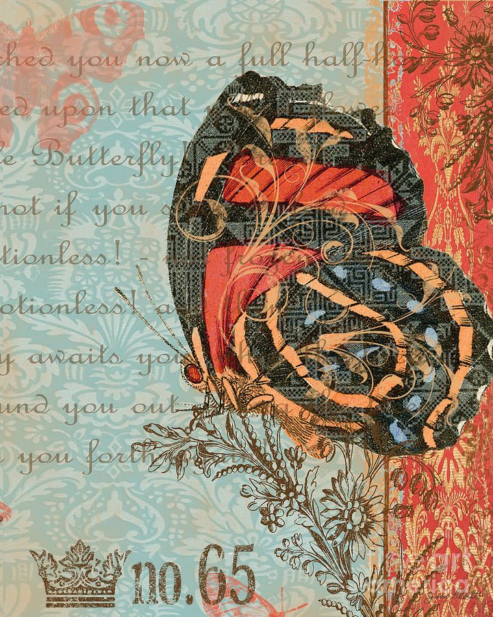 Royal Tapestry Butterfly-d2 Digital Art - Royal Tapestry Butterfly-d2 Fine Art Print