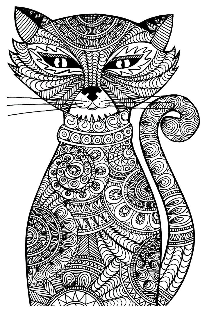 Coloriage mandala en ligne 23 mandala coloriage adulte via dessin de - Chat a colorier adulte ...