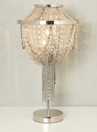 Bhs illuminate atelier evangeline table lamp nickel chain bhs illuminate atelier evangeline table lamp nickel chain and smoke mozeypictures Image collections