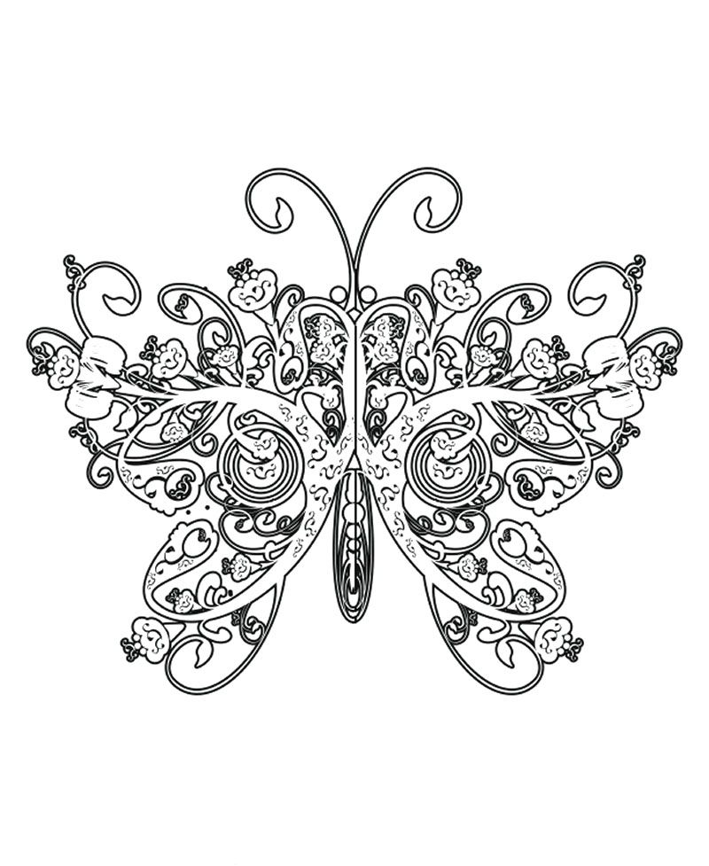 The Butterfly Has Wings Like The Queen Coloring Page Butterfly