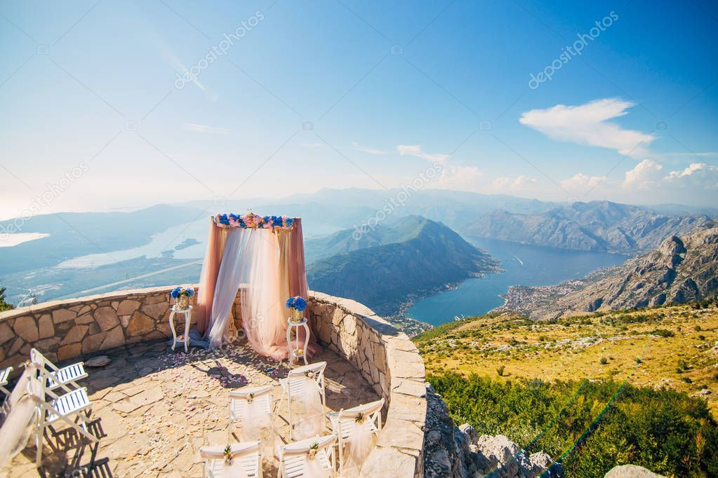 Wedding ceremony in the mountains - Stock Photo , #ad, #ceremony, #Wedding, #mountains, #Photo #AD
