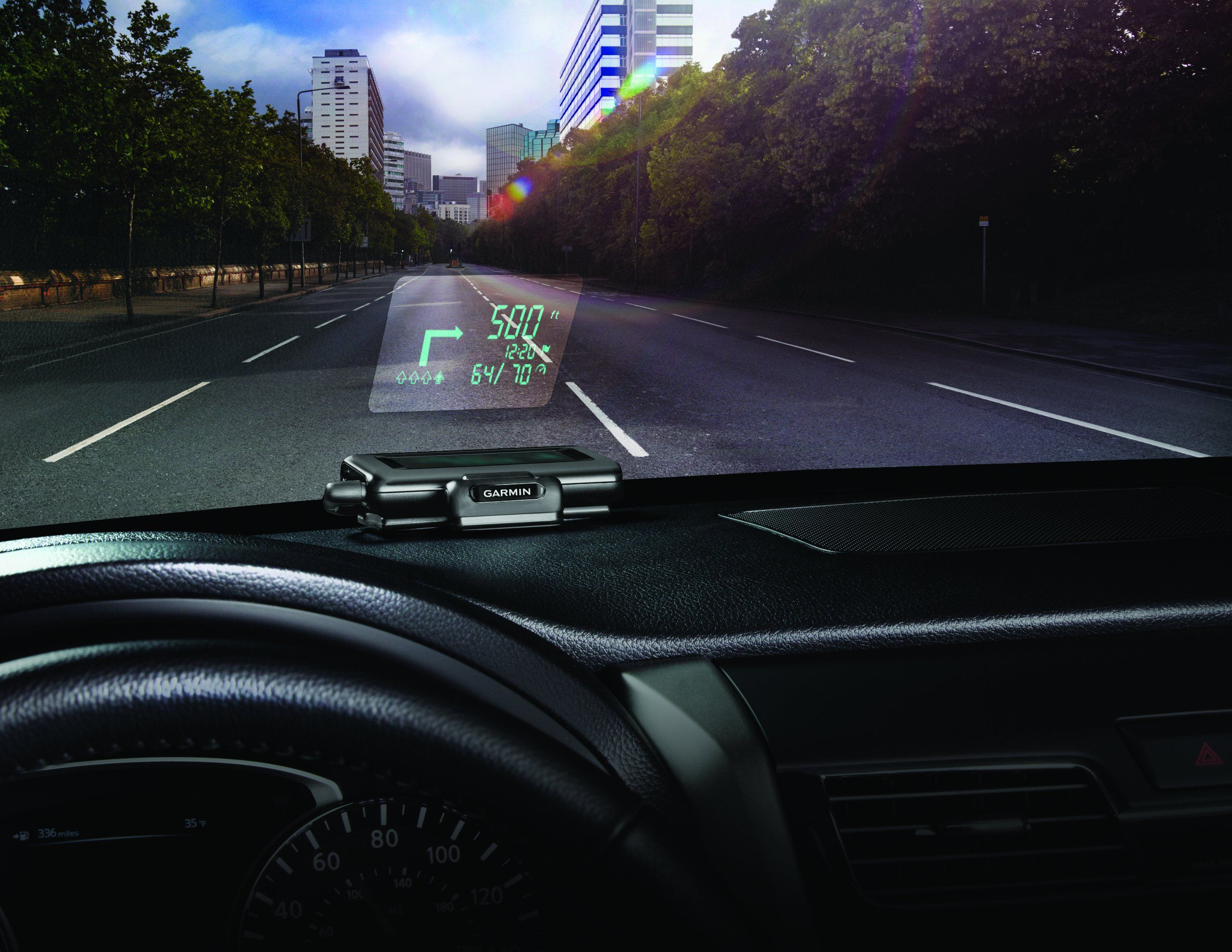 Garmin HeadUp Display (HUD) Dashboard Mounted