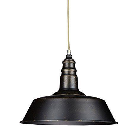Relaxdays Industrie Deckenlampe \/ Deckenleuchte schwarz - Fabrik - deckenleuchten für die küche