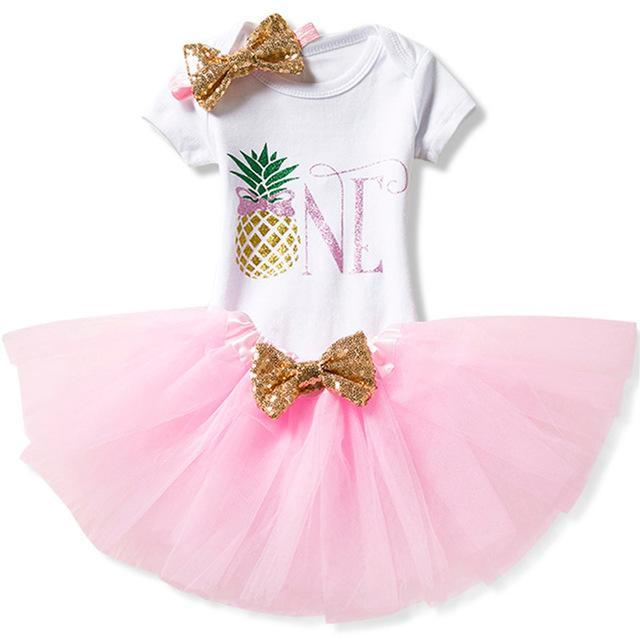 Infant Baby Girls 1st Birthday Dress Outfits Cake Smash Party Romper Tutu Skirt