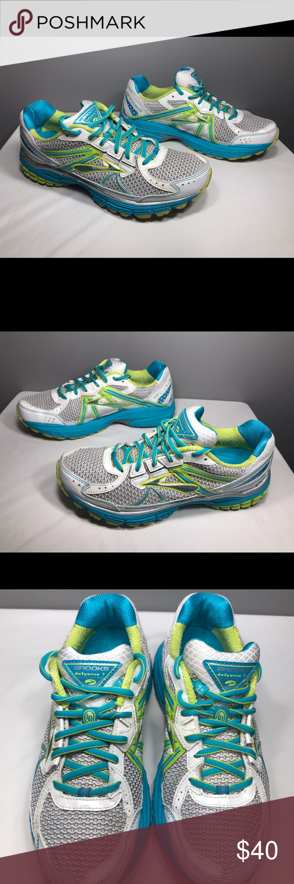 c6590bf5752a1 Brooks defyance 7 women s running shoes. Size 9.5 Women s running shoes  size 9.5. Smoke