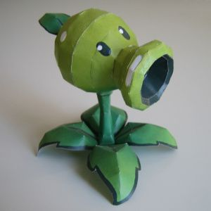 Paper Craft to make Pea Shooter from Plant vs  Zombies