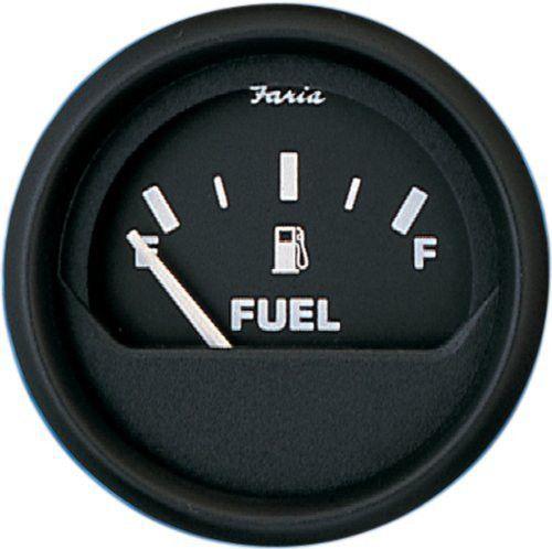 Faria Euro Black 2 Fuel Level Gauge E 1 2 F