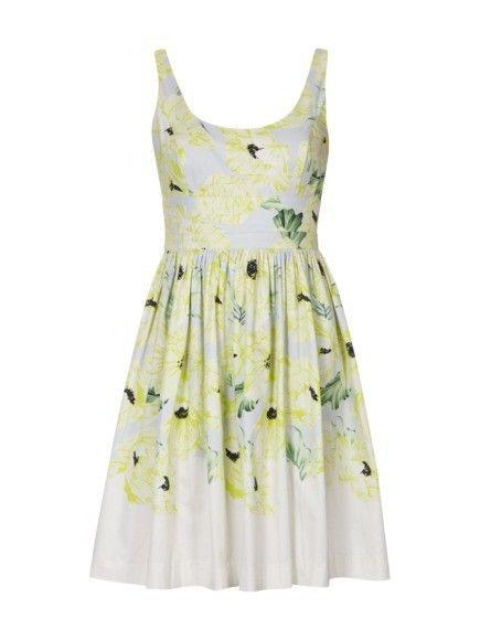 FRENCH-CONNECTION Kleid mit Blumenmuster in Weiß online ...