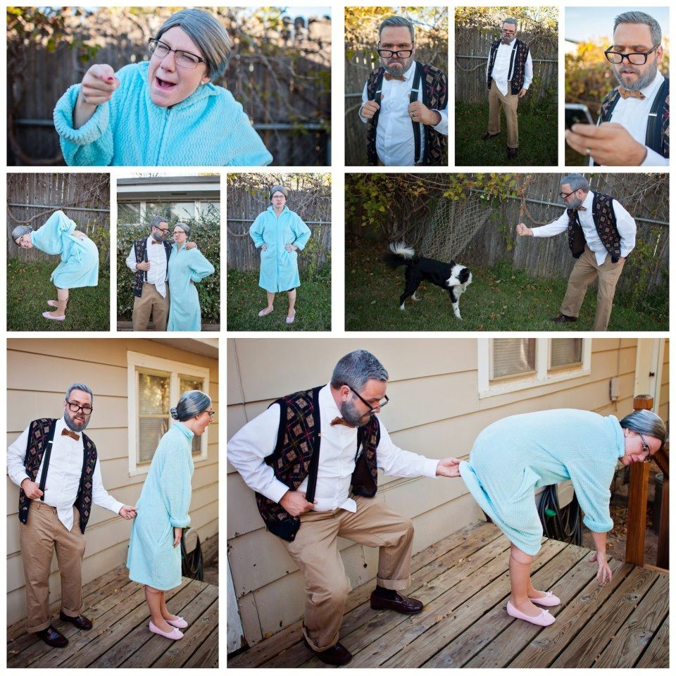 Wedding Reception Ideas For Older Couples: Crotchety Old Couple DIY Halloween Costume