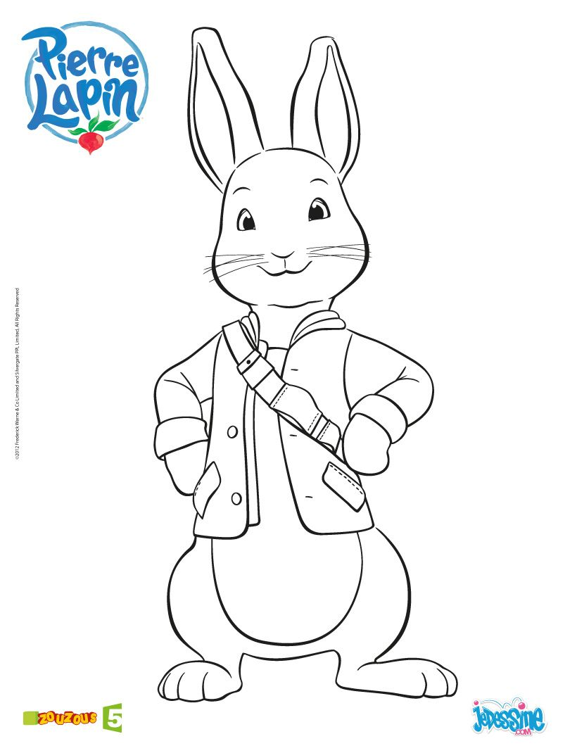 Coloriage pierre lapin colorier coloriages enfants - Lapin a colorier ...