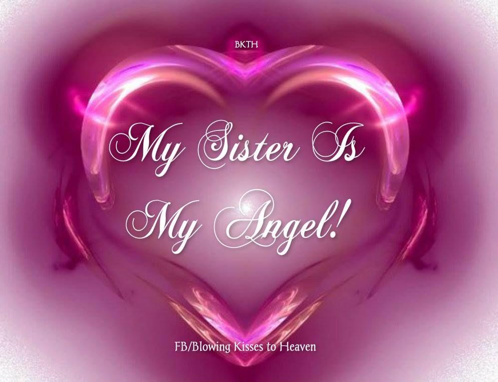 My Sister Is My Angel Heart Wallpaper Pink Heart Pink Love