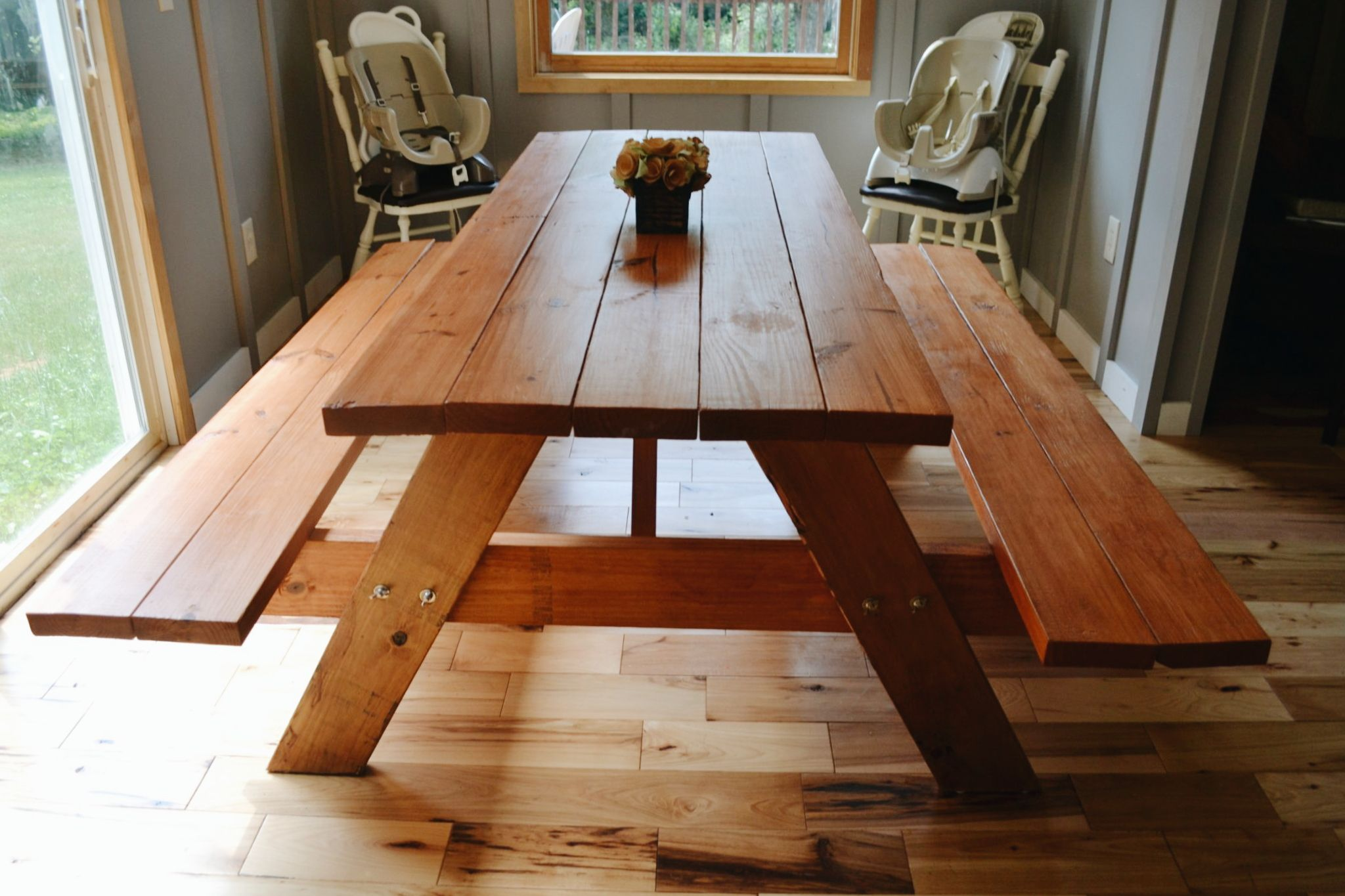 Diy picnic farmhouse table no building required rustic