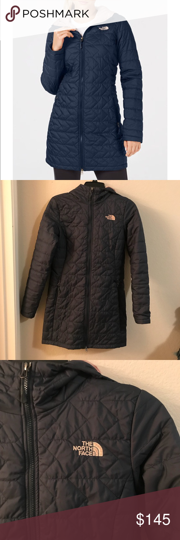 8bbb5e979 The North Face Hooded Coat XS Navy Blue The North Face Tamburello ...