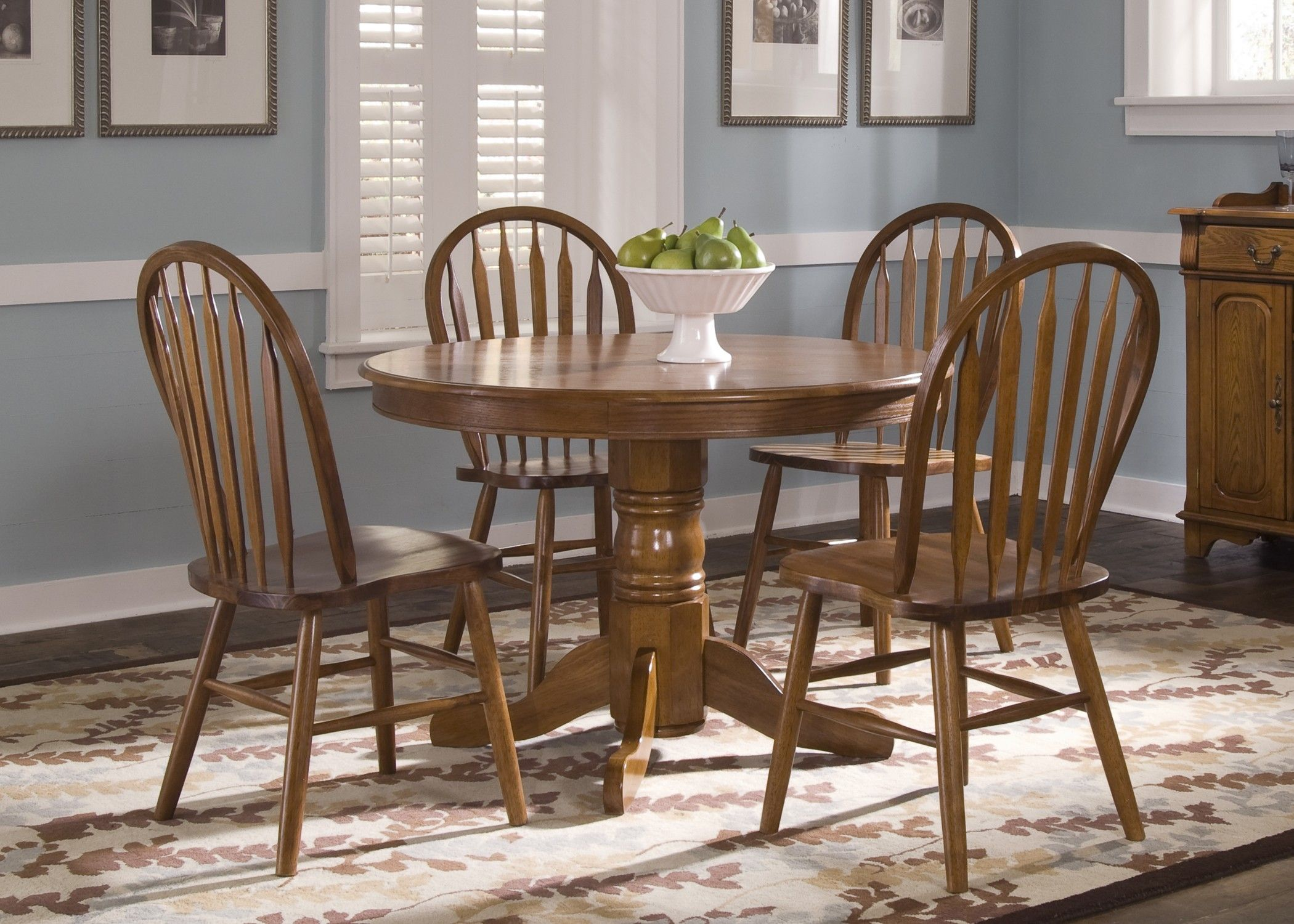 DT McCall U0026 Sons Round Table W Four Chairs. Dining Room Option