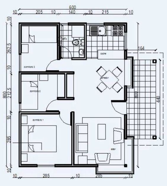 Planos de casas economicas pdf plans drawings for Planos de viviendas pdf