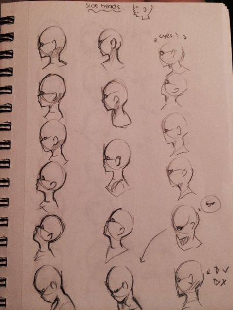 Side Head View Art Reference Art Tutorials Drawings