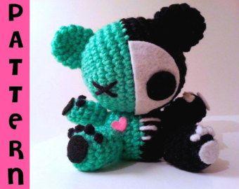 Amigurumi Chibi Doll : Creepy cute stuffed animal crochet pattern zombie amigurumi