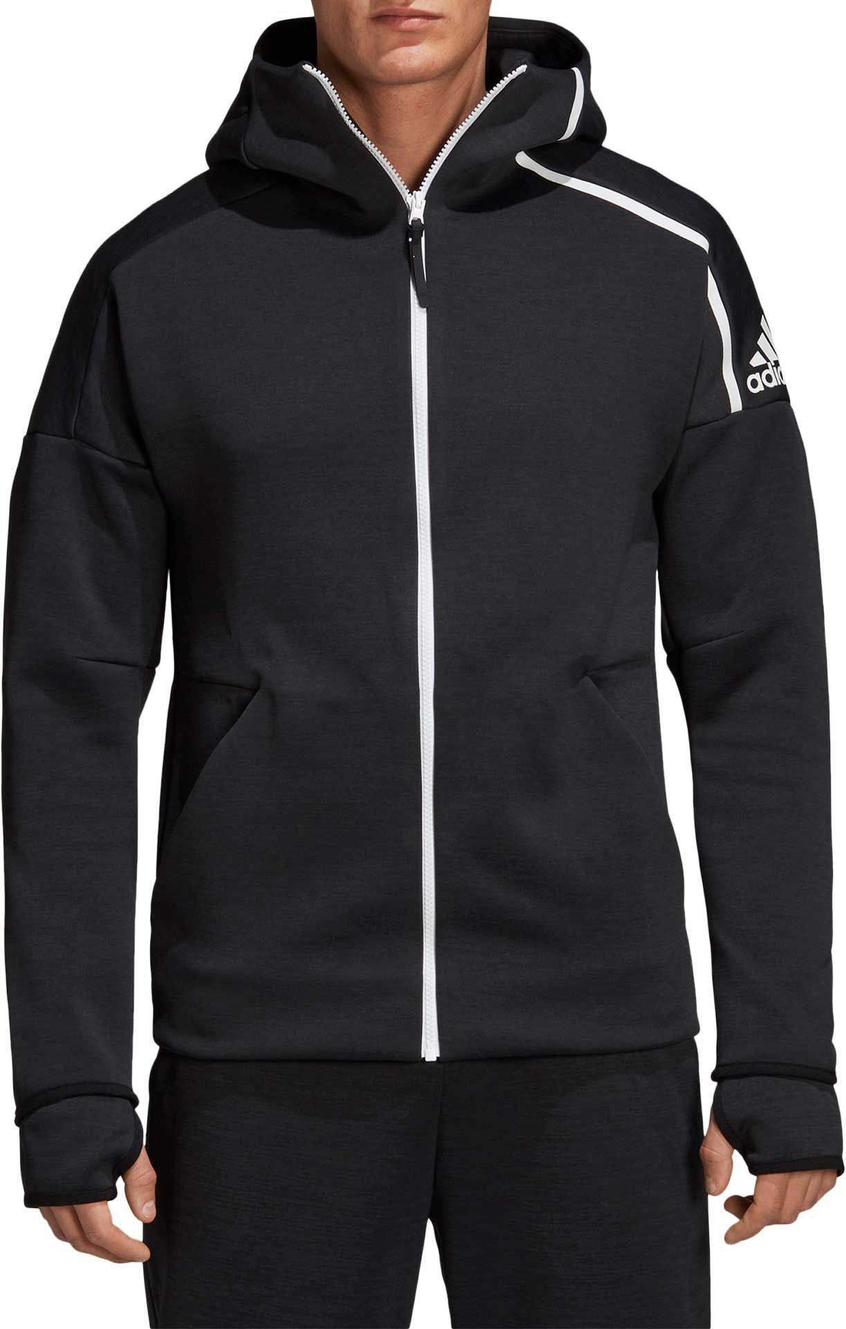 adidas Originals CURATED Zip up hoodie black Men's Plain