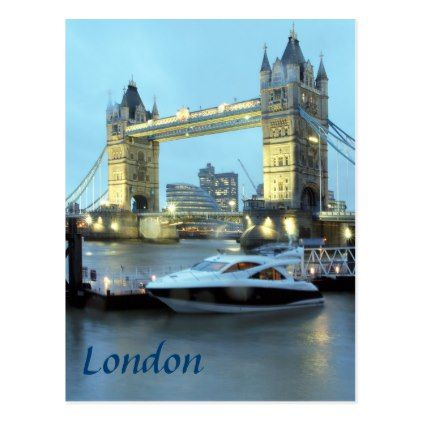 Tower Bridge in London England souvenir photo Postcard - postcard post card postcards unique diy cyo customize personalize