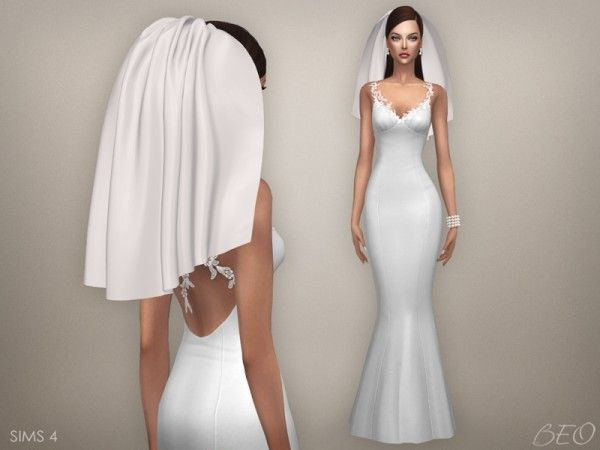 beo creations: wedding veil 04 • sims 4 downloads | the sims
