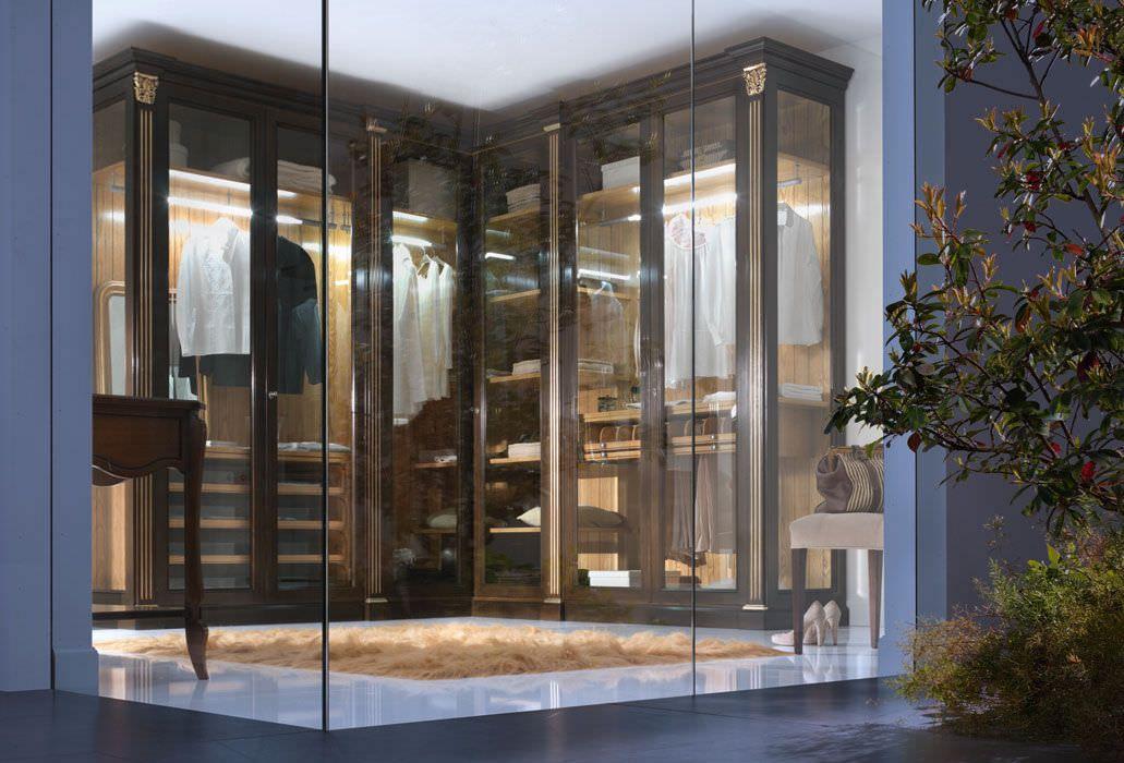 Corner wardrobe / contemporary / wooden / with swing doors EVO ...