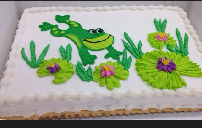 Frog Cake With Images Frog Cakes Birthday Sheet Cakes