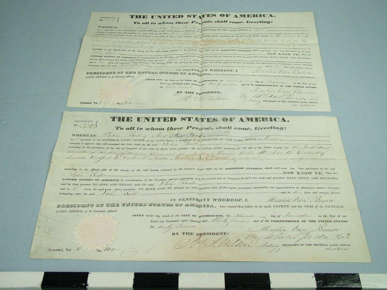 1952 Bowman Us Presidents 11 Martin Van Buren Back Hail To The