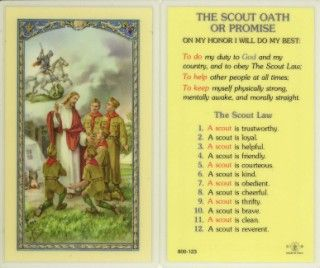 The Boy Scout Oath Holy Card (800-123) - 10 pack (E24-759) great ...
