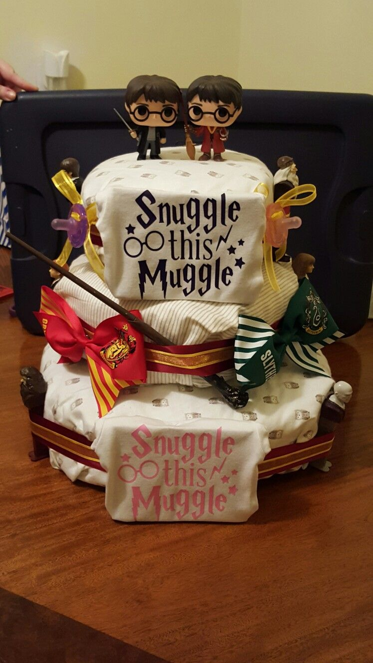 Harry Potter Diaper Cake It Was For Twin Girls So There