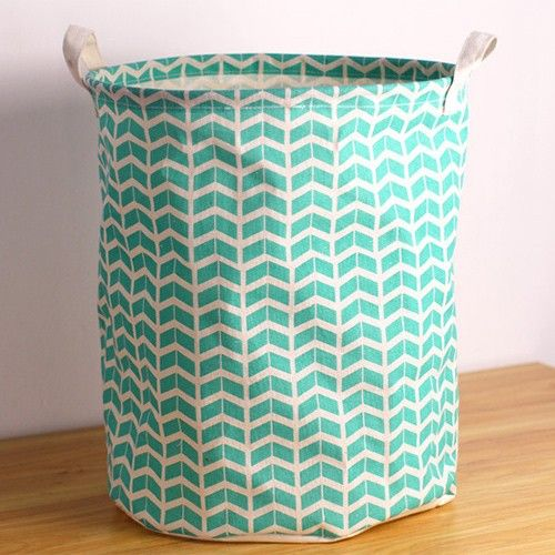 Geometric Turquoise Canvas Laundry Storage Bag 34 Off 39 00