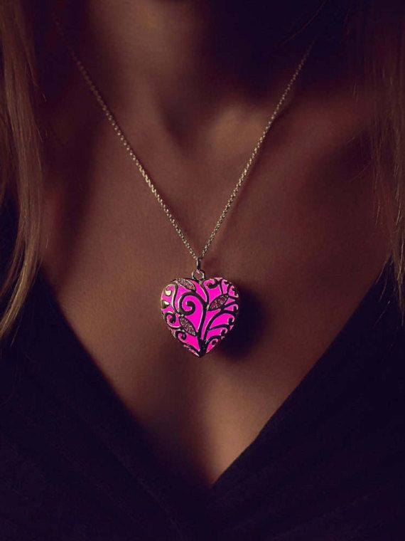 Photo of Pink Glow Necklace – Inspirational Women Gift – Heart – Pink Stone – Jewelry Gift – Birthday Gift – Heart – Pink Shimmer