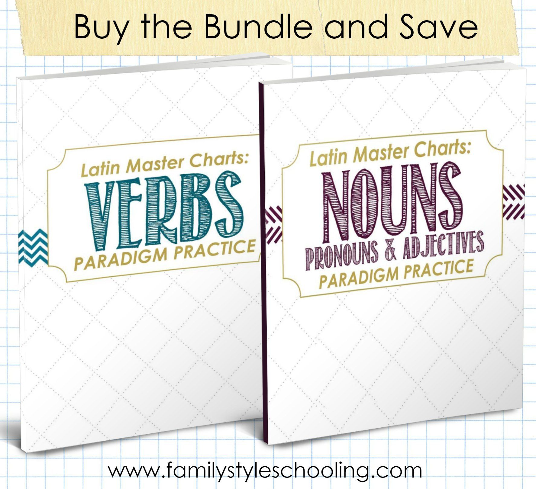 Latin Chart Bundle Latin With Andy Nouns And Pronouns Nouns And Verbs Verb Conjugation [ 1619 x 1774 Pixel ]