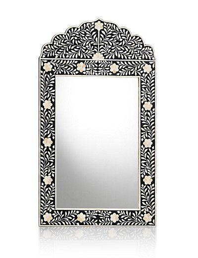 Leora Black Rectangular Mirror Mirrored Furniture