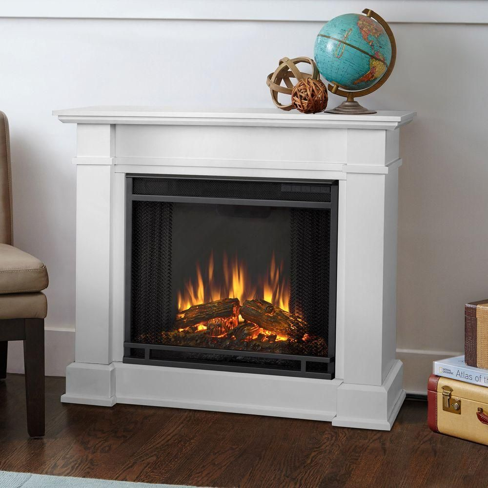 Real Flame Devin 36 In Electric Fireplace In White 1220e W The