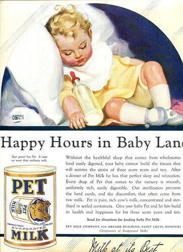1924 Pet Milk  Ad Andrew Loomis Art