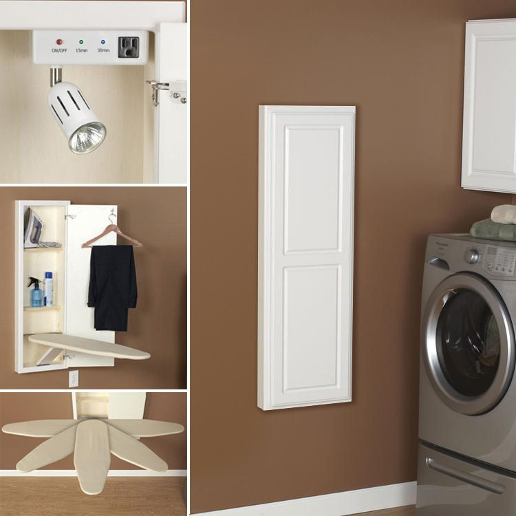 Iron And Ironing Board Storage Solutions Wall Ironing Board