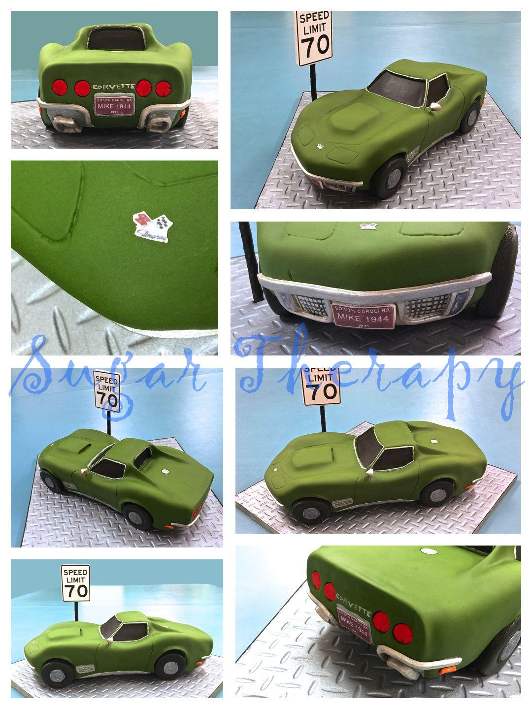 1971 Corvette Stingray car cake by Sugar Therapy birthday cake