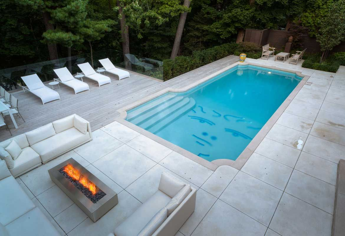 Image Result For Fire Pit On Rectangle Pool Deck Rectangle Pool Fire Pit Images Modern Fire Pit