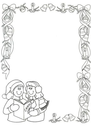 Christmas Page Border Christmas Coloring Pages Colorful