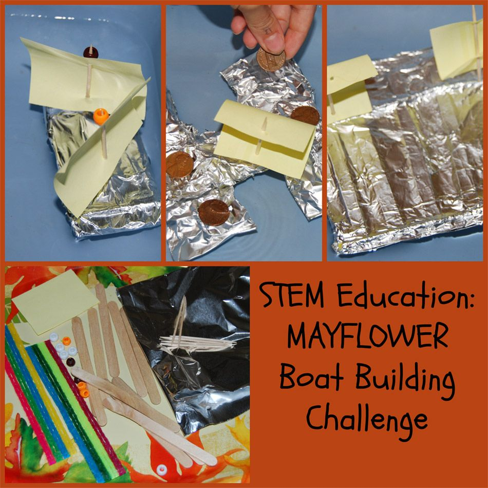 Stem Education Kids Mayflower Boat Building Challenge
