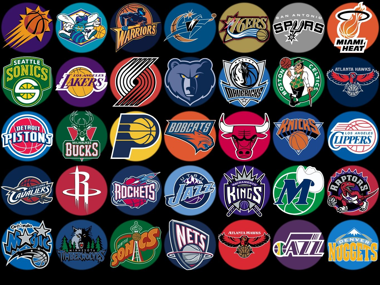 Logos of all NBA teams Nba logo, Nba teams, Team wallpaper