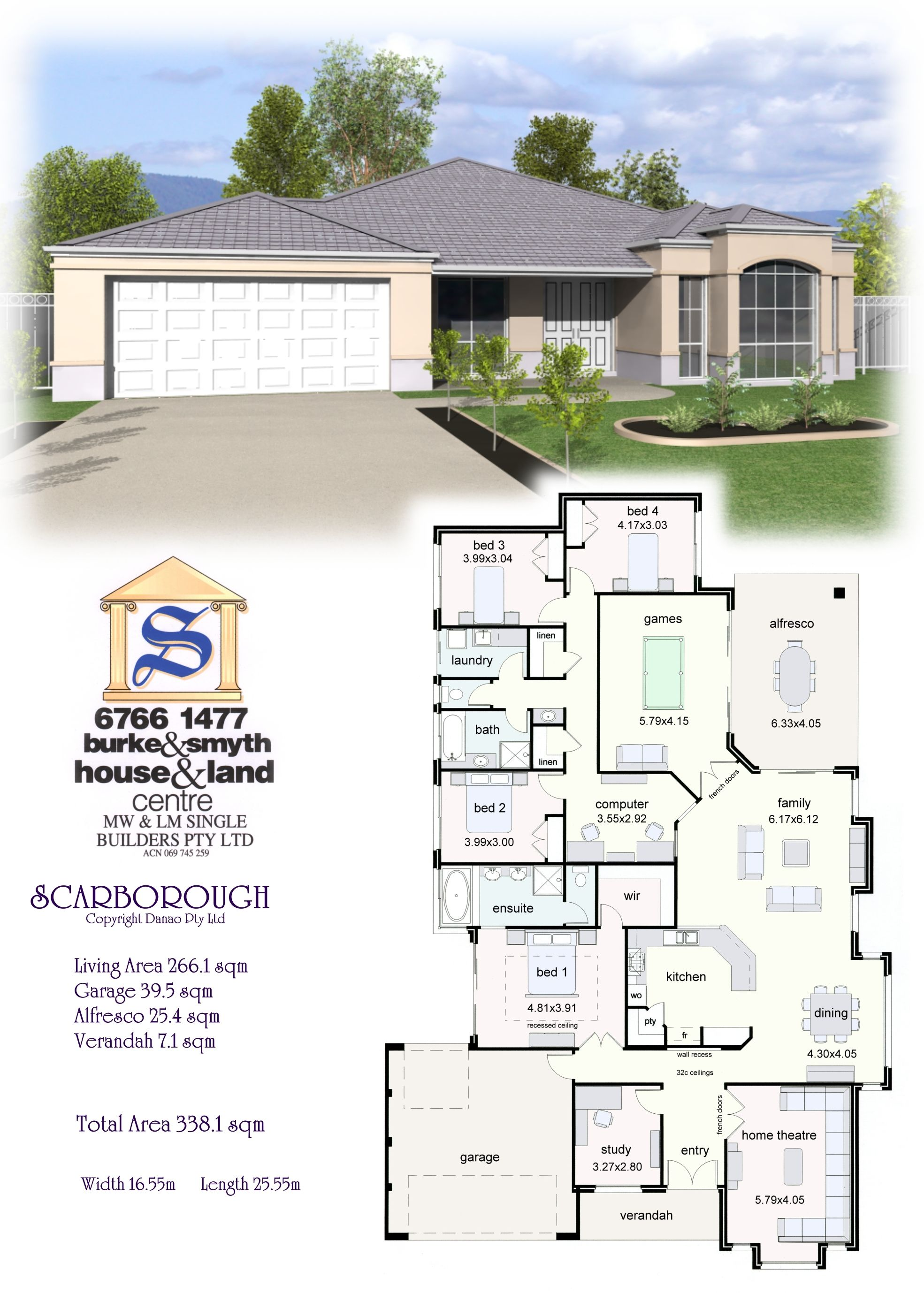 Single Builders I Scarborough House Plan House Blueprints New House Plans Family House Plans