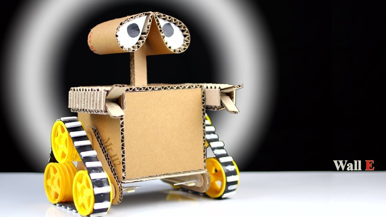 How to Make a robot at home from Cardboard - DIY Wall E Robot - Mr ...
