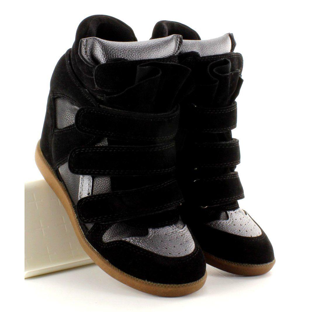 Sneakersy Zamszowe 6040 Black Czarne Suede Sneakers Sneaker Heels Black Sneakers