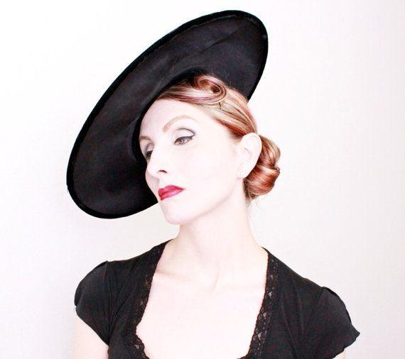 1950s Hat Vintage Wide Brim Cartwheel 50s Hat Etsy