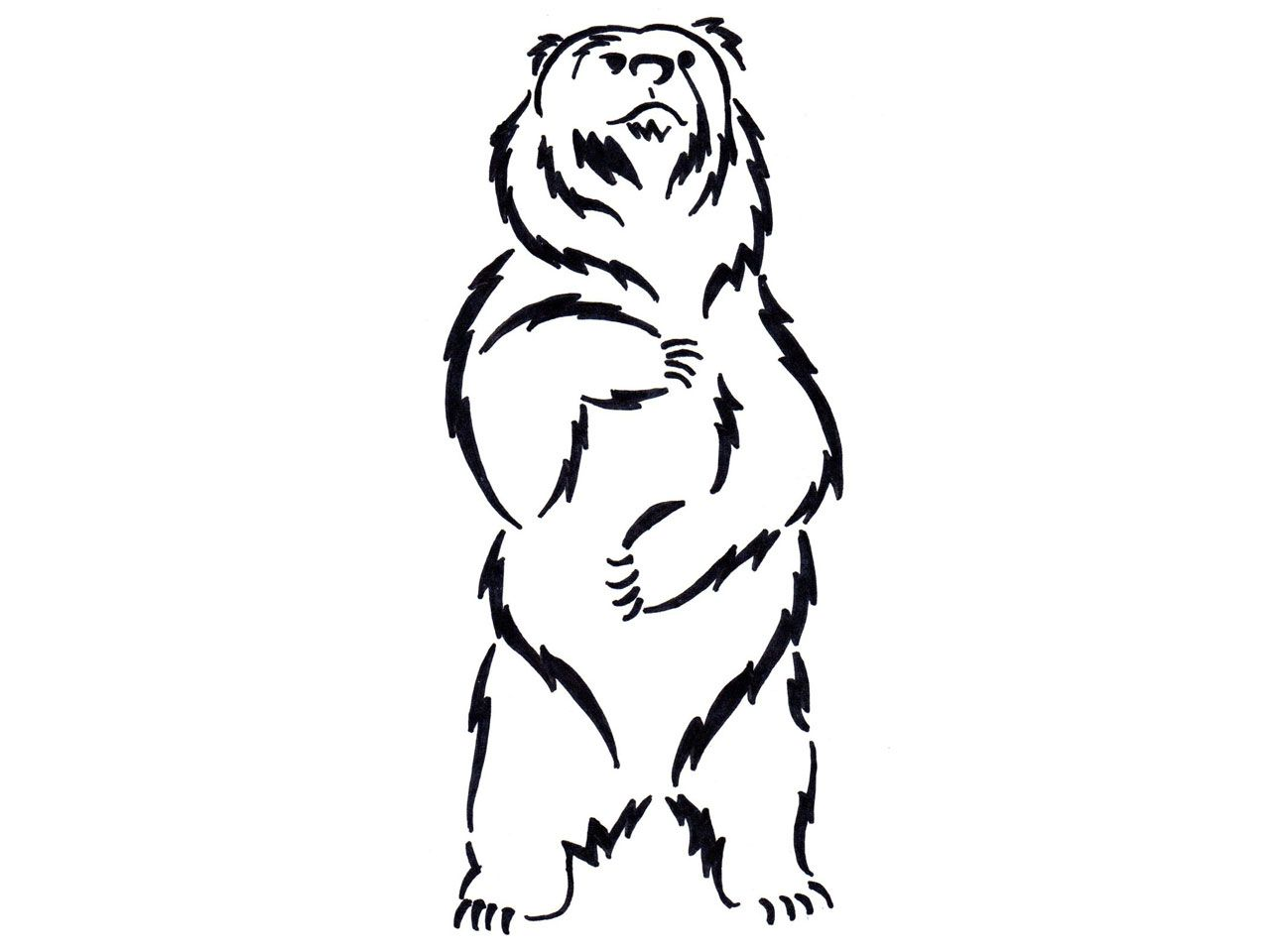 standing black bear drawing clipart panda free clipart images