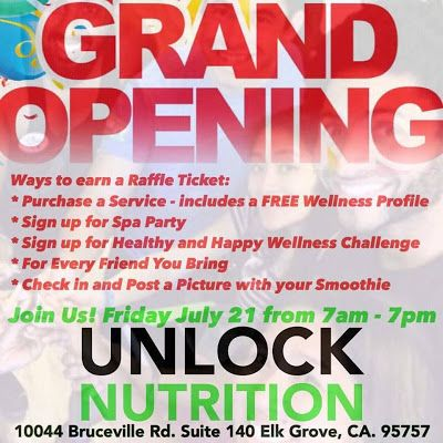 Welcome to HerbaSkinLadyu0027s Blog Unlock Nutrition Club Grand - grand opening flyer
