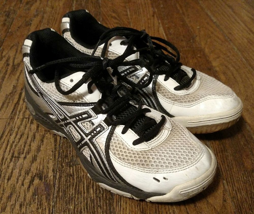 Asics Gel 1130v Women S Black White Silver Volleyball Shoes Size 6 5 Asics Volleyball