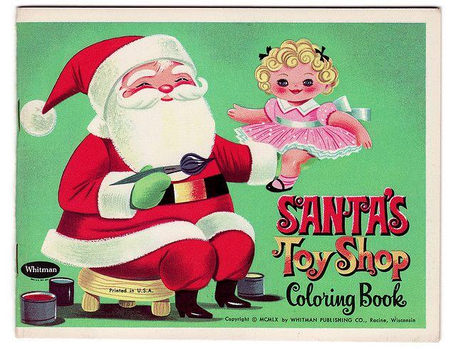 Santa\u0027s Toy Shop 1960 Very Merry Vintage Christmas Pinterest